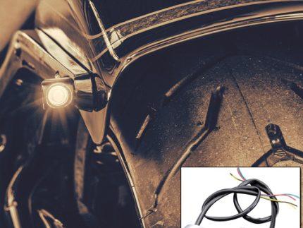 2 STRIPE WING (Chrome) 13-17 FXSB Rear Indicator With 3 in 1 Run & Brake Light