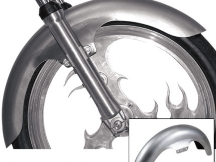 """Softail Long Flared 21"""" Front Fender"""