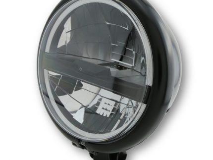 Black HIGHSIDER 5 3/4 inch LED headlight BATES STYLE