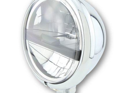 Chrome HIGHSIDER 5 3/4 inch LED headlight BATES STYLE