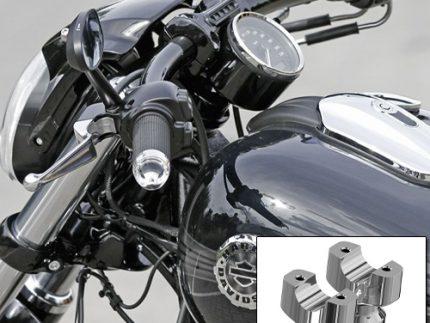 Thunderbike Chrome Flat Riser Kit