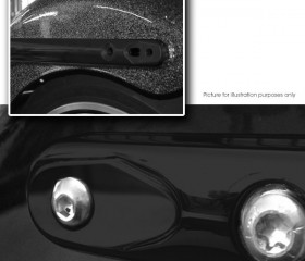 Strut Blank Off Plates<br><small>Black with Button Head Bolts Included</small>