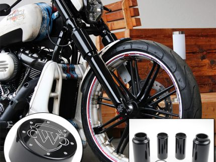 6 piece fork cover kit with logo for 18-up breakout models
